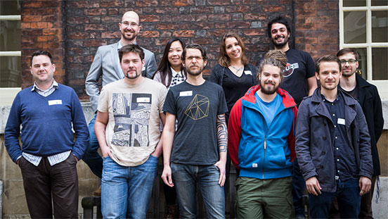 Talk Web Design 2012 Speakers     Back row from left: Kaelig Deloumeau-Prigent (the Guardian), Pui Ling-Lau (Reading Room), Laura Kalbag (freelance) and Ben Foxall (White October).      Front row from left: Peter Gasston (Rehab Studio), Adam Onishi (Architect), Nicklas de León Persson (Rumble Labs) and the Clearleft 2013 interns.